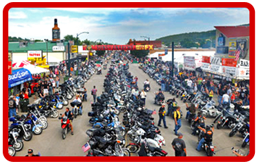 Little Sturgis Bikeweek Vendor space.